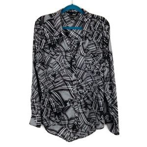 Rock and Republic Abstract Print Button Down Shirt